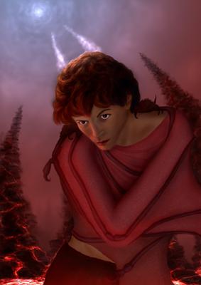 Entre le ciel et l'enfer, Lucifer l'ange déchu souffre d'une mélancolie et d'un complexe oedipien non résolu. Sa divinité est sa camisole.