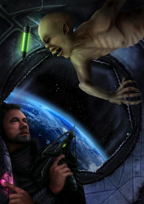 le monstre de l espace 600 - Parution Univers 9 d'OutreMonde