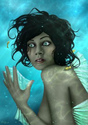 La jeune femme assiste impuissante à son étrange métamorphose, est-ce l'amour de la mer qui a fait d'elle une sirène, ou le mépris pour les choses humaines ?