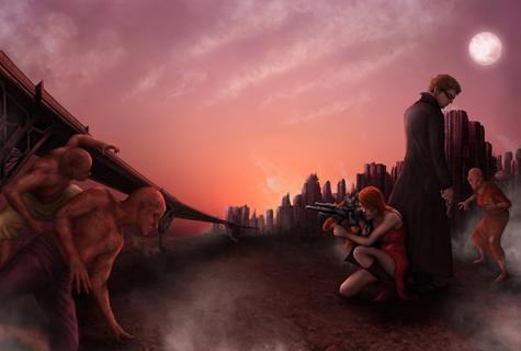 Piégés à l'extérieur de la ville et encerclés par les mutants, un sombre duo va devoir faire chanter leurs armes